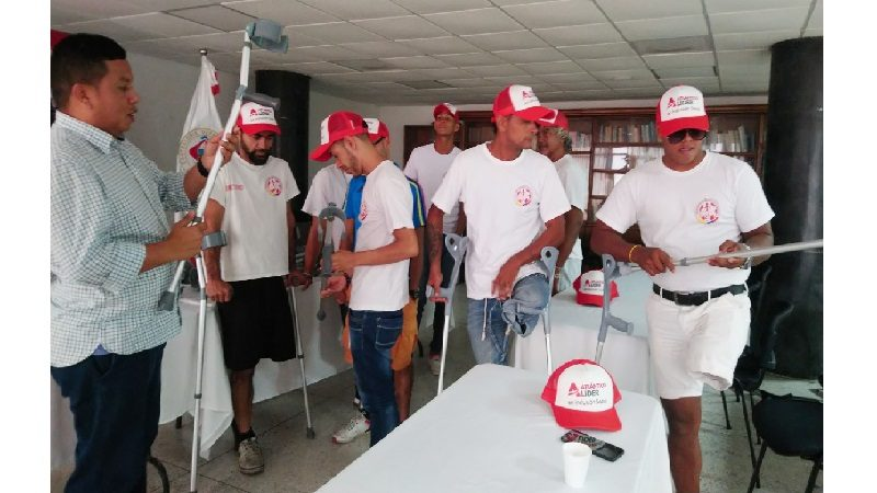 Selección Colombia de Fútbol de Amputados recibe ayuda técnica del Departamento