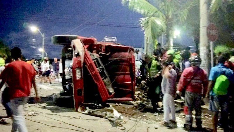 Un muerto tras accidente de volqueta que quedó sin frenos, en Campo Alegre