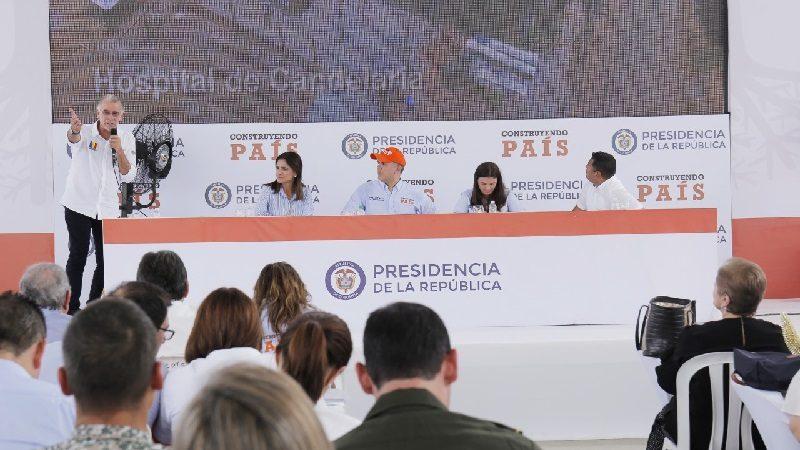 Verano presentó al presidente Duque las 400 obras que ejecuta la Gobernación del Atlántico