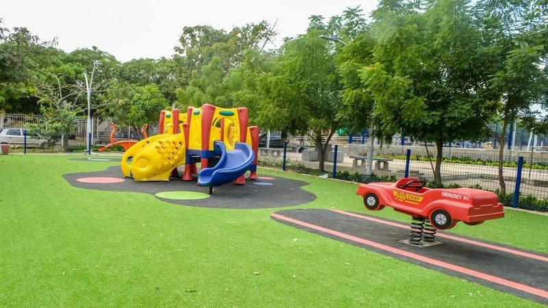 Así quedó el remodelado parque del barrio Los Almendros en el municipio de Soledad