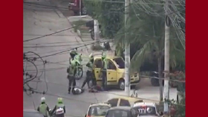 Atraco, persecución y capturas en el barrio El Tabor de Barranquilla