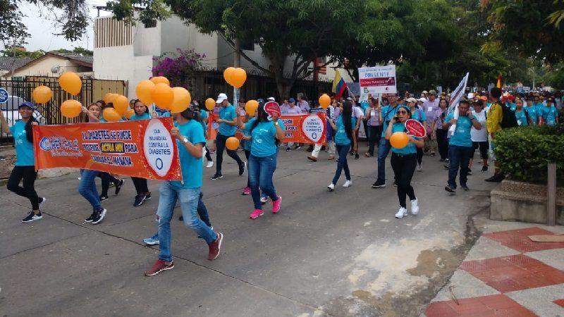 Barranquilla marcó la pauta en celebración del Día Mundial de la Diabetes