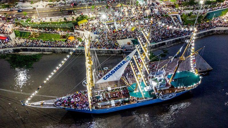 Buque Gloria regresa a Barranquilla este jueves 15 de noviembre
