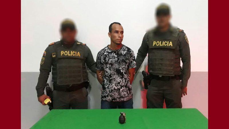 Capturan a hombre portaba una granada de fragmentación, en la Cordialidad