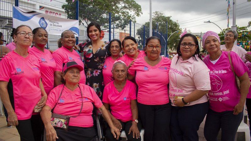 Con fútbol, mujeres soledeñas finalizan actos del mes de la prevención del cáncer de seno