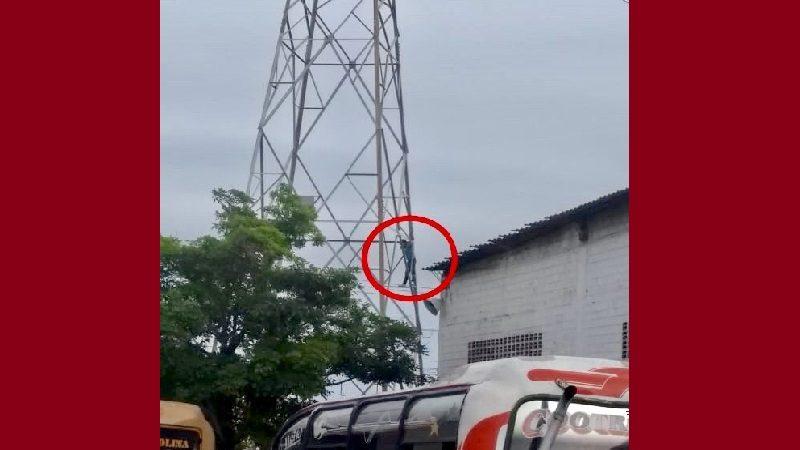 Hombre que quería suicidarse dejó sin luz parte de Barranquilla
