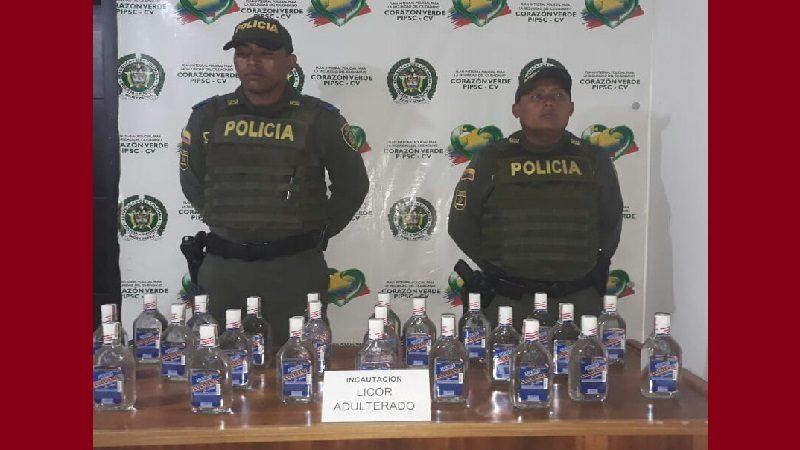 Incautan 48 botellas de licor adulterado en Suan, Atlántico