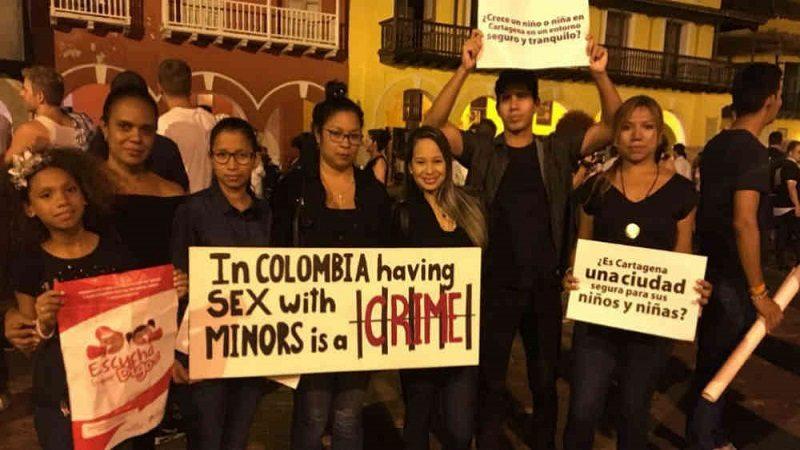 Niñas de Cartagena protestaron contra la explotación sexual