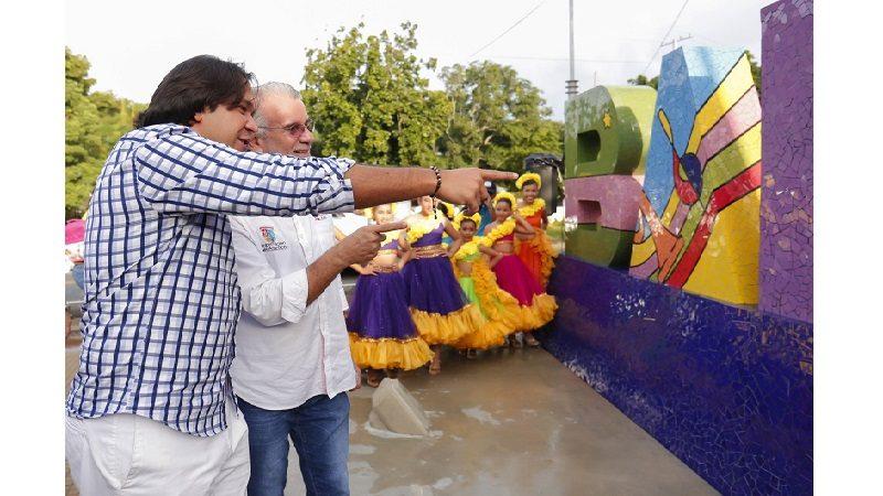 Nuevo parque y mosaico de bienvenida adornan la entrada de Baranoa