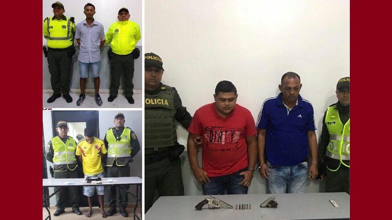 Policía captura a cuatro atracadores en diferentes barrios de Barranquilla
