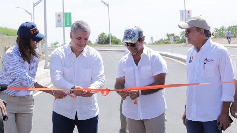 Presidente Duque y alcalde Char reabrieron tramo de la carrera 38, entre calles 82 y 83A