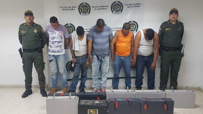 Se robaron una antena de telefonía en Baranoa y los capturó la Policía