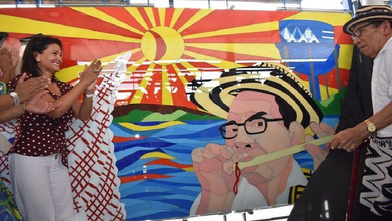 Transmetro develó nuevas obras de arte en cuatro de sus estaciones