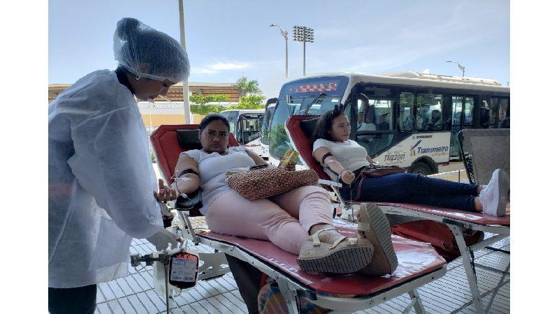 Usuarios de Transmetro donaron 229 unidades de sangre en dos estaciones del Sistema