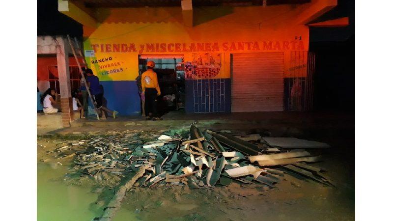 Vendaval destecha al menos 60 casas en barrio El Sinaí de Barranquilla