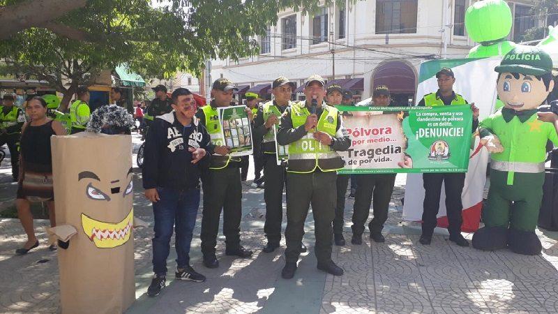 Alcaldía y Policía lanzan campaña contra la pólvora en Barranquilla
