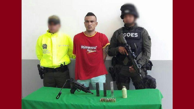 Capturan a venezolano con subametralladora y granada de aturdimiento, en el barrio Rebolo