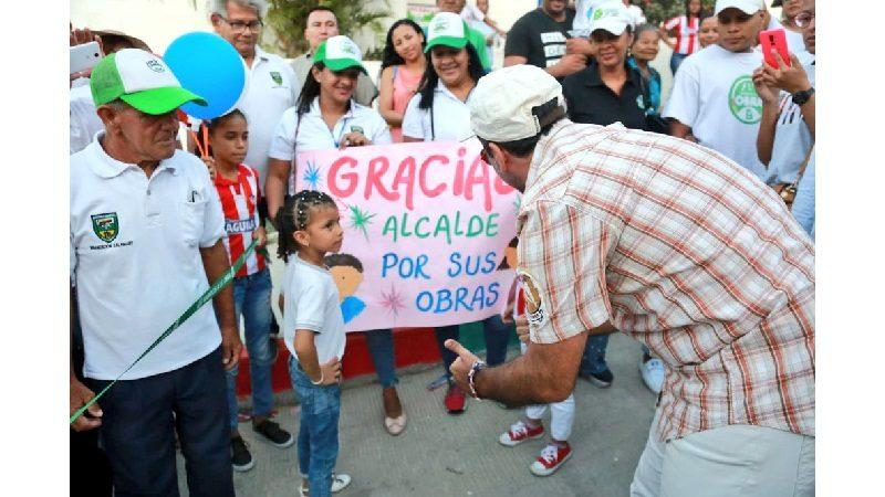 Habitantes del barrio Kalamary de Barranquilla, estrenan seis nuevas vías pavimentadas