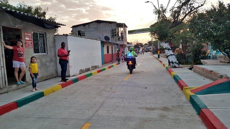 Habitantes del barrio Por Fin estrenan 2 kilómetros de vías pavimentadas