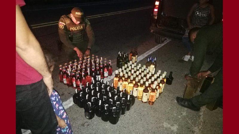 Incautan 147 botellas de licor adulterado en el municipio de Ponedera