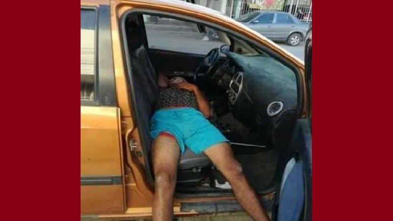 Ladrón borracho intentó robarse un carro en Santa Marta y se quedó dormido