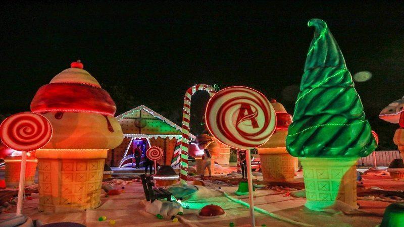 Parque de dulces en Plaza de la Paz, otro atractivo turístico del Atlántico, en navidad 1