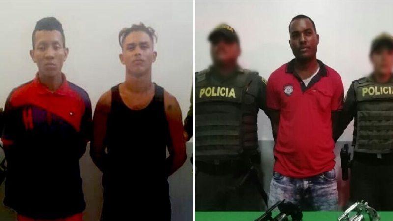 Policía capturó a tres atracadores en Bendición de Dios y Santo Domingo