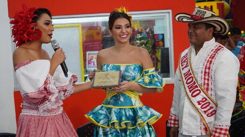 Reina del Carnaval de Barranquilla nombró su cambambero en el municipio de Santo Tomás