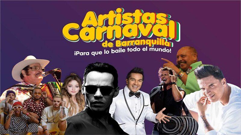 Anuncian a grandes artistas para el Carnaval de Barranquilla 2019
