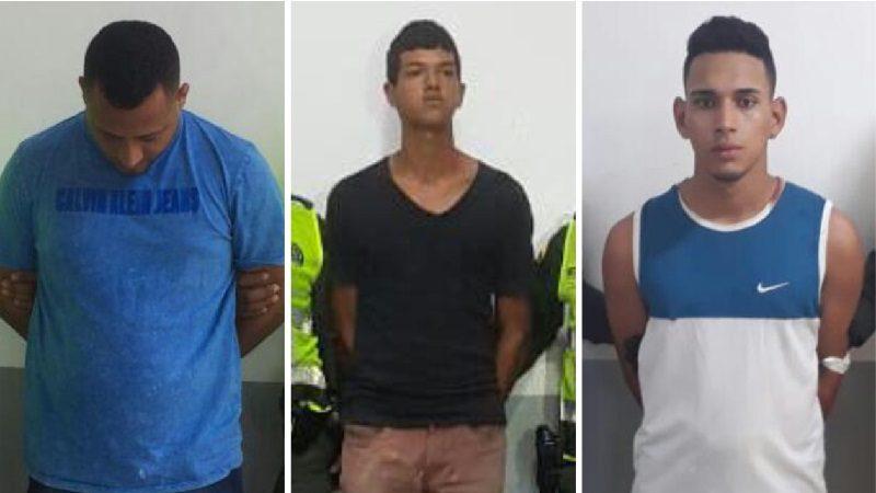 Capturan a tres atracadores en Barranquilla, Soledad y Galapa