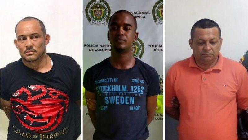 Capturan a tres hombres por el delito de homicidio, en La Chinita, Nueva Colombia y Miramar