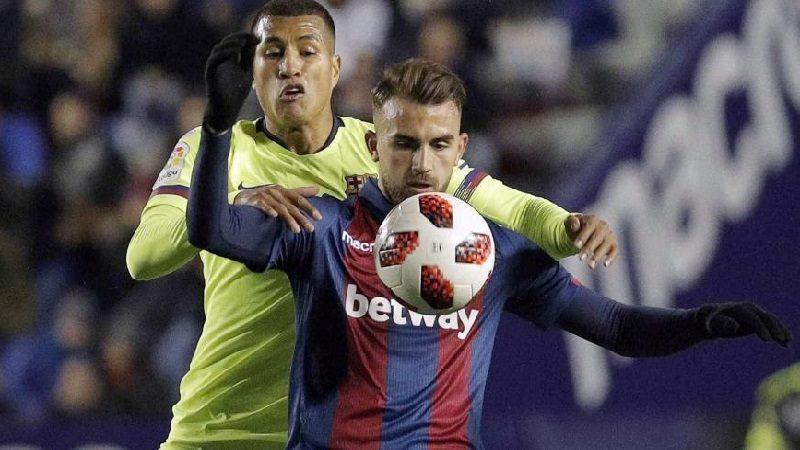 En estreno de Jeison Murillo, Barcelona perdió 2-1 contra el Levante