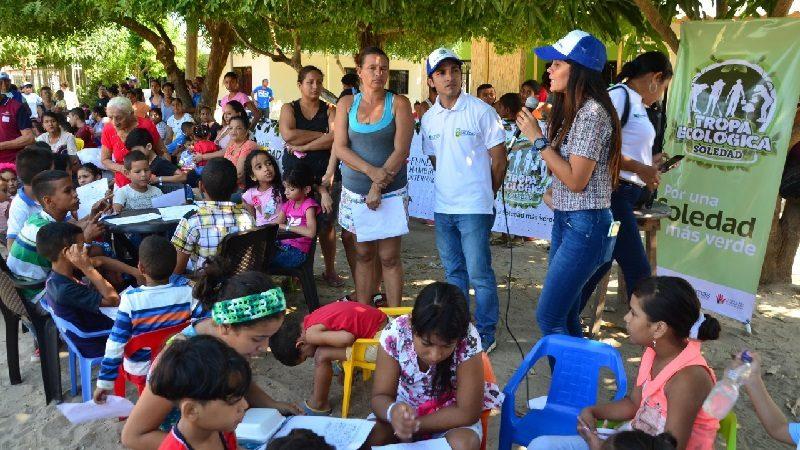 Jóvenes de Tropa Ecológica de Edumas concientizan sobre cuidado del medio ambiente
