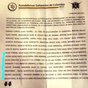 Panfleto siembra el pánico en los barrios Las Flores, Siape, San Salvador y La Floresta