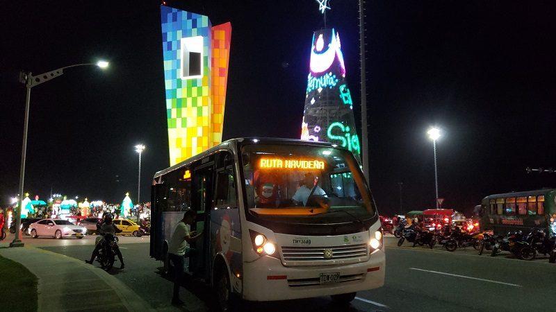 Ruta Navideña de Transmetro operará hasta el 7 de enero