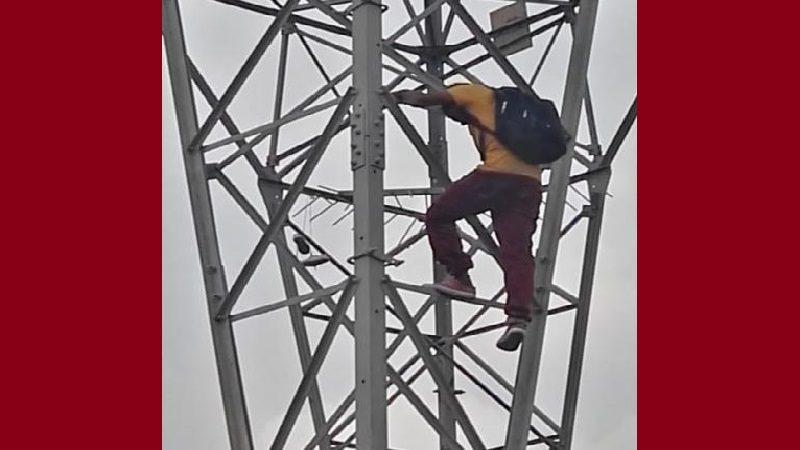 Venezolano intentó lanzarse de torre de energía en Soledad, decepcionado de Maduro
