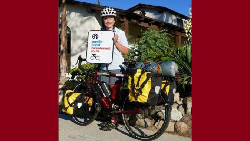 A canadiense que recorre el mundo pedaleando le robaron la cicla en Barranquilla