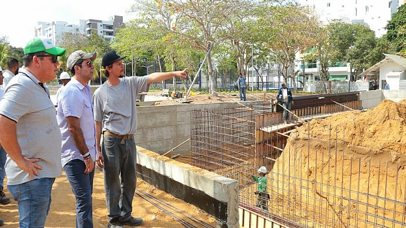Alcalde Char asegura que en 45 días entregarán el parque Venezuela remodelado