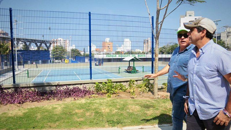 Barranquilla estrena el remodelado parque Bosques del Norte, con 9 canchas deportivas