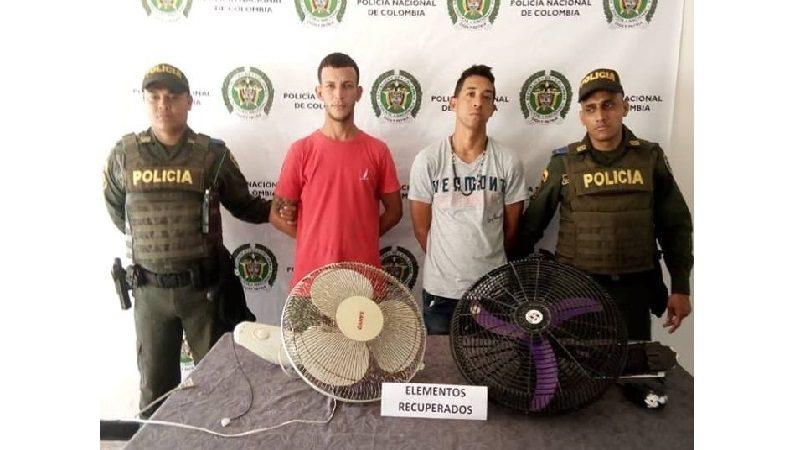 Capturan a 'La Mariposa' y 'El Simba' cuando se robaban dos ventiladores de un CDI en Polonuevo