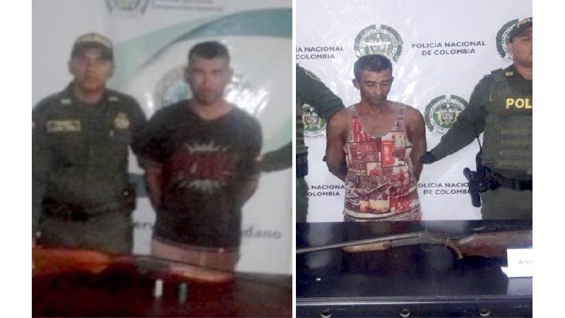 Capturan a dos hombres con escopetas en Tubará y Polonuevo, Atlántico