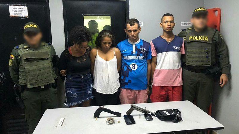 Capturan a tres hombres y dos mujeres que andaban atracando en taxi por el sur de Barranquilla