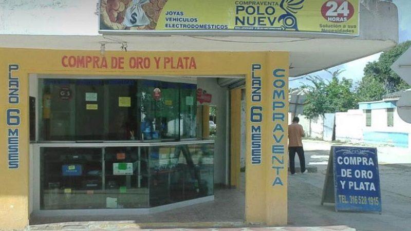 Delincuentes rompieron paredes para robar droguería y compra venta en Polonuevo
