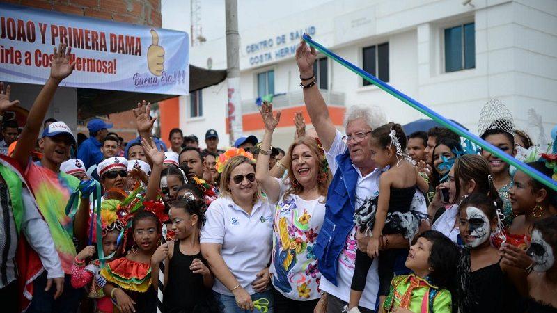 Inauguran 1 kilómetro de vías pavimentadas en el barrio Costa Hermosa de Soledad