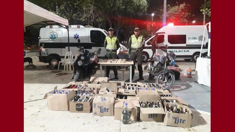 Incautan licor adulterado en el barrio Las Nieves
