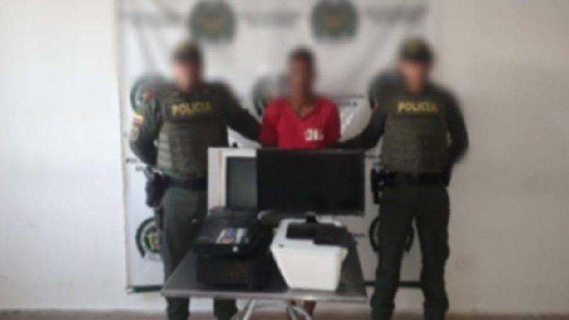 Lo capturan cuando desocupaba una casa en el municipio de Luruaco