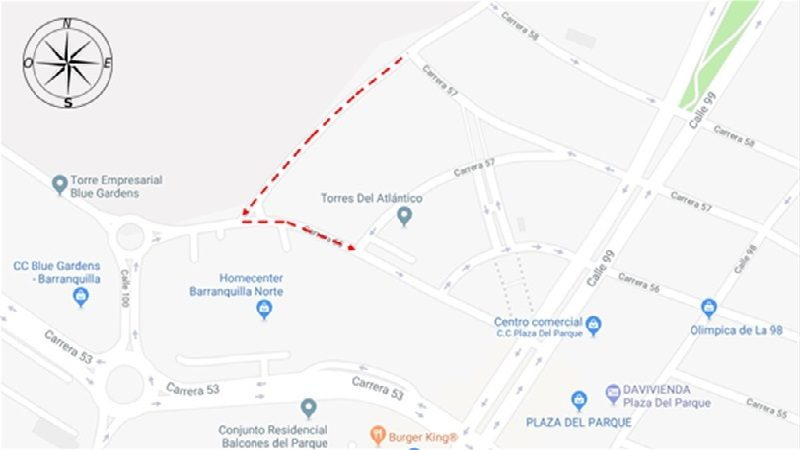 A partir del viernes 15 de marzo, cambios de sentido vial en la carrera 55, en Barranquilla