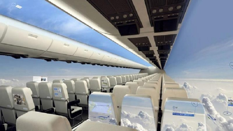 Aviones sin ventanas, el transporte aéreo que permitirá tener una vista panorámica del cielo