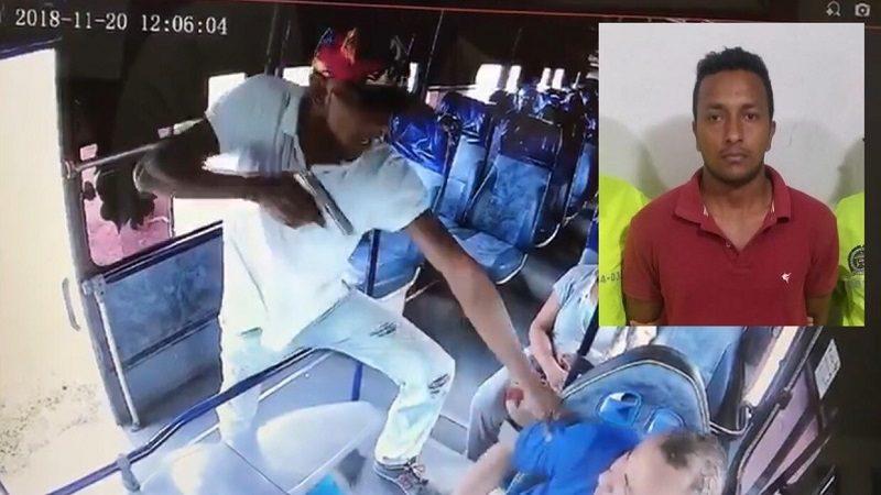 Cae alias 'El Coco', reconocido atracador de bus en el municipio de Galapa