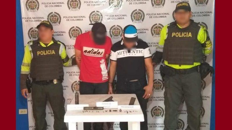 Caen dos pereiranos que portaban pistola con silenciador en el municipio de Baranoa